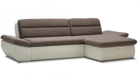 Угловой диван Монако, коричневый