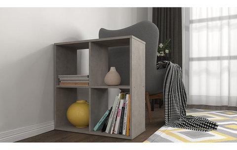Стеллаж Polini Home Smart Кубический 4 секции, бетон