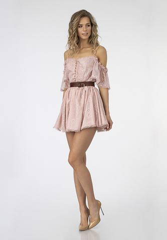 Платье с вышивкой из шифона крэш