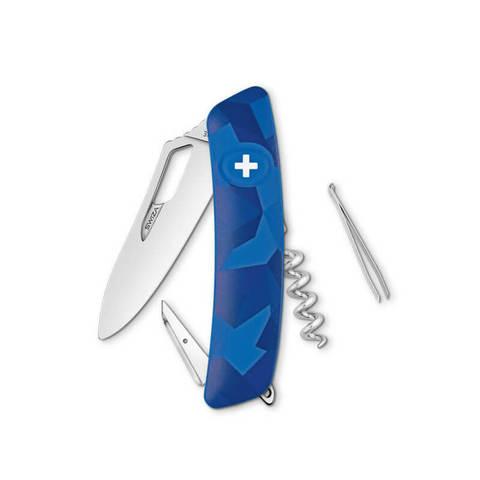 Швейцарский нож SWIZA SH01 R Camouflage, 95 мм, 7 функций, камо синий