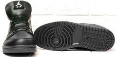 Зимние черные кроссовки с черной подошвой мужские Nike Air Jordan 1 Retro High Winter BV3802-945 All Black