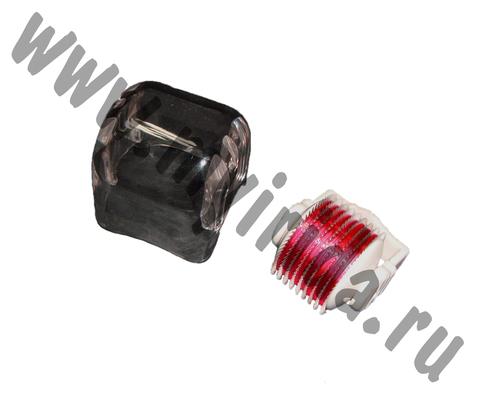 Сменная насадка к мезороллеру 540 титановых игл, красный цвет
