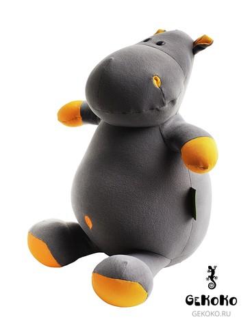 Подушка-игрушка антистресс Gekoko «Бегемот Няша», оранжевый 3