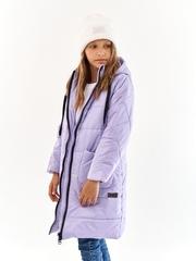 Пальто для девочки Классик сиреневый