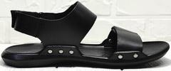 Мужские кожаные сандали босоножки чёрные Zlett 7083 Black.