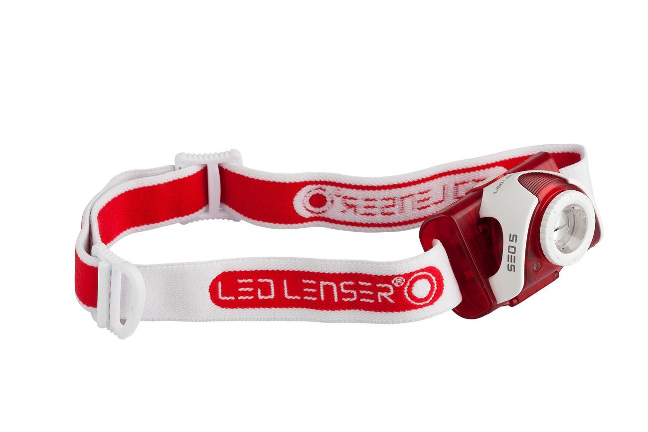 Фонарь светодиодный налобный LED LENSER SEO5 (Красный)