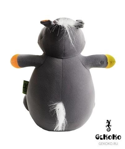 Подушка-игрушка антистресс Gekoko «Бегемот Няша», оранжевый 4