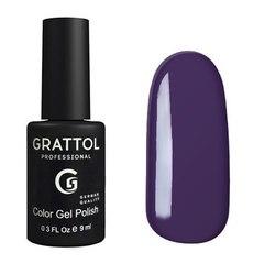 Grattol, Гель-лак 010, Eggplant, 9 мл