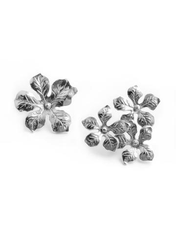 Серебряные ассиметричные серьги