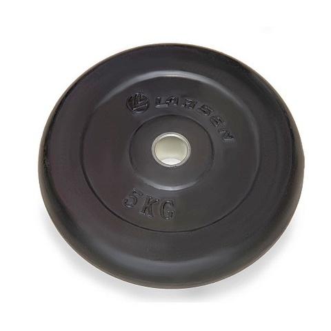 Диск обрезиненный NT121 черный д31мм  5кг (Ларс)