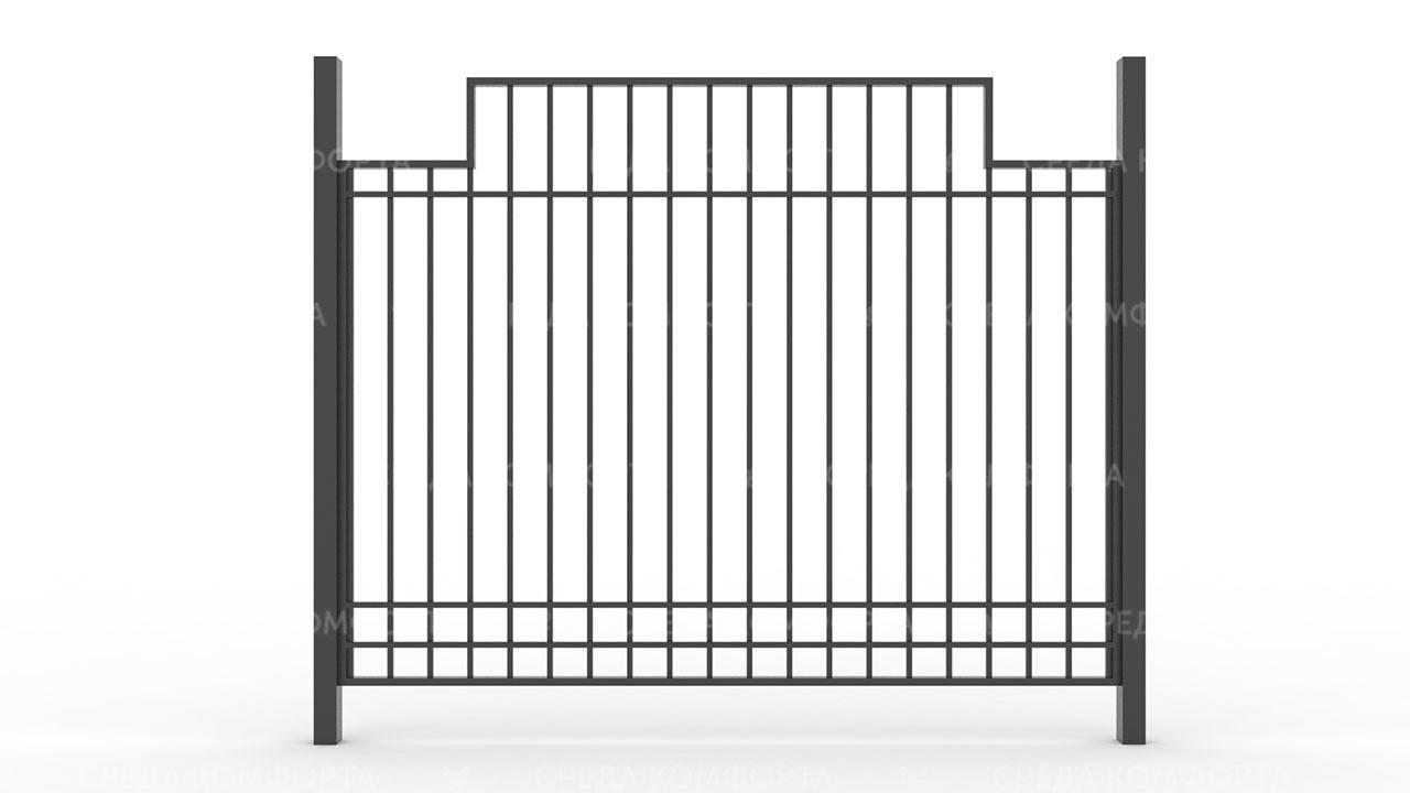 Забор из профильной трубы ZBR0155