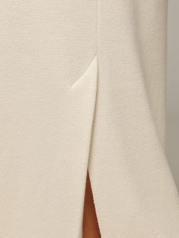 Женская белая юбка с разрезом из 100% кашемира - фото 3