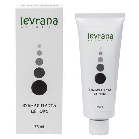 Зубная паста LEVRANA Детокс, черная, 75 мл.