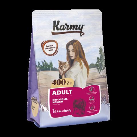 Karmy Adult Сухой корм для кошек с телятиной