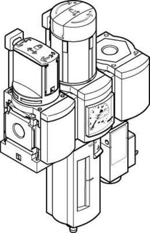 Блок подготовки воздуха, комбинация Festo MSB4-1/4:C3J2F3-WP