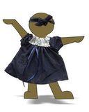 Арт. 850-25-42 -Платье из жатого шелка - Демонстрационный образец. Одежда для кукол, пупсов и мягких игрушек.