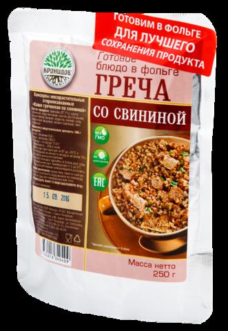 Каша гречневая со свининой 'Кронидов', 250г
