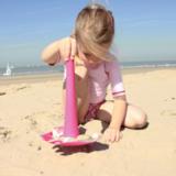 Универсальные грабли для пляжа Quut Triplet розовый
