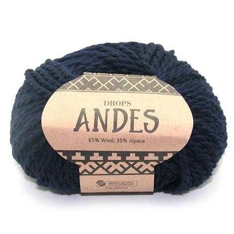 Пряжа Drops Andes 6990 темно-синий