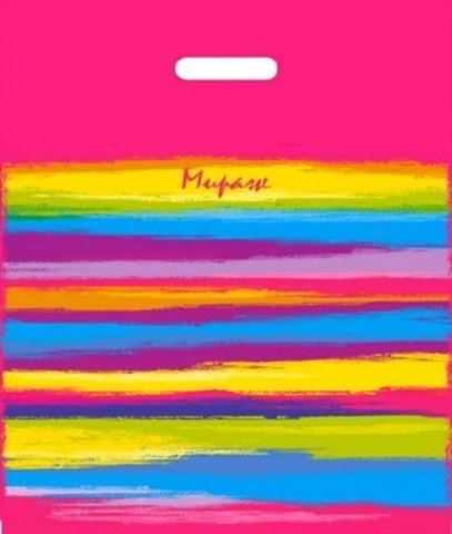 Пакет ПЭ с вырубной ручкой 40х47+6 (45) И (Мираж)