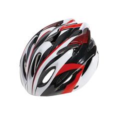 Велошлем Cigna WT-012 (чёрный/красный/белый)