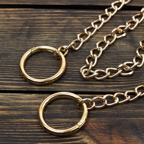 Цепочка с кольцами-карабинами (золото)