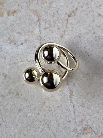 Кольцо Моноглаус, позолота