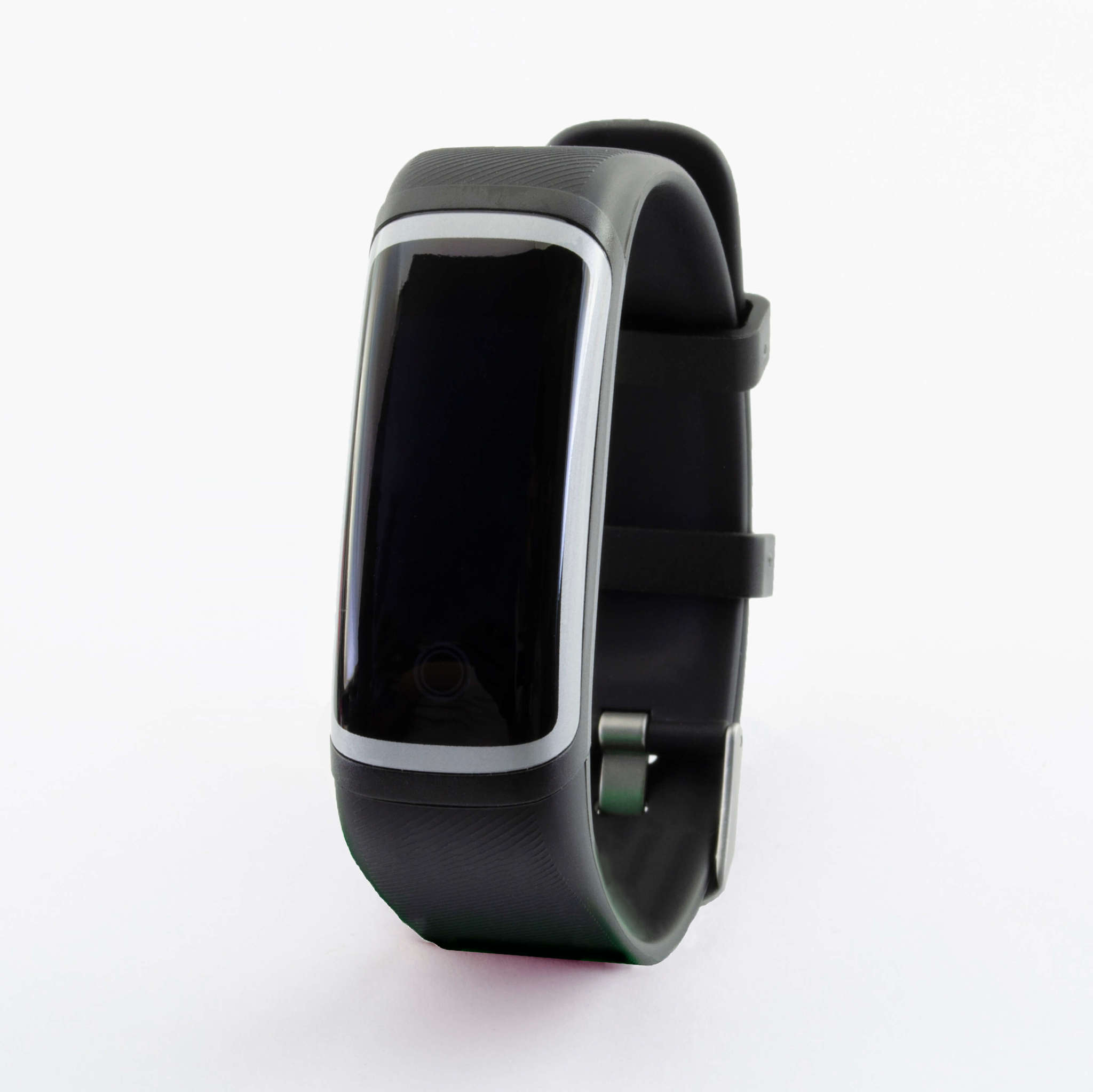 Браслет здоровья с автоматическим измерением температуры, давления, пульса и кислорода Health Band №4 (чёрно-серебристый)