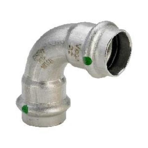 Отвод 90° Sanpress Inox 22, нержавеющая сталь, Viega
