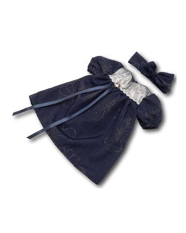Арт. 850-25-42 -Платье из жатого шелка - Синий. Одежда для кукол, пупсов и мягких игрушек.
