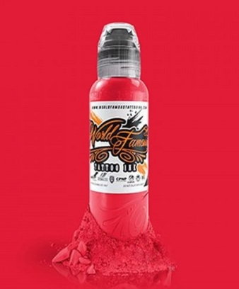 """Краска World Famous Tattoo Ink """"Rose Red"""" 1/2 унции - 15 мл"""