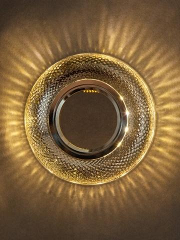 Встраиваемый Светильник 8119-3W-CL Прозрачный+Диодная подсветка
