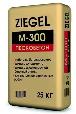 Смесь цементно-песчанная Ziegel Пескобетон М-300 (25кг)