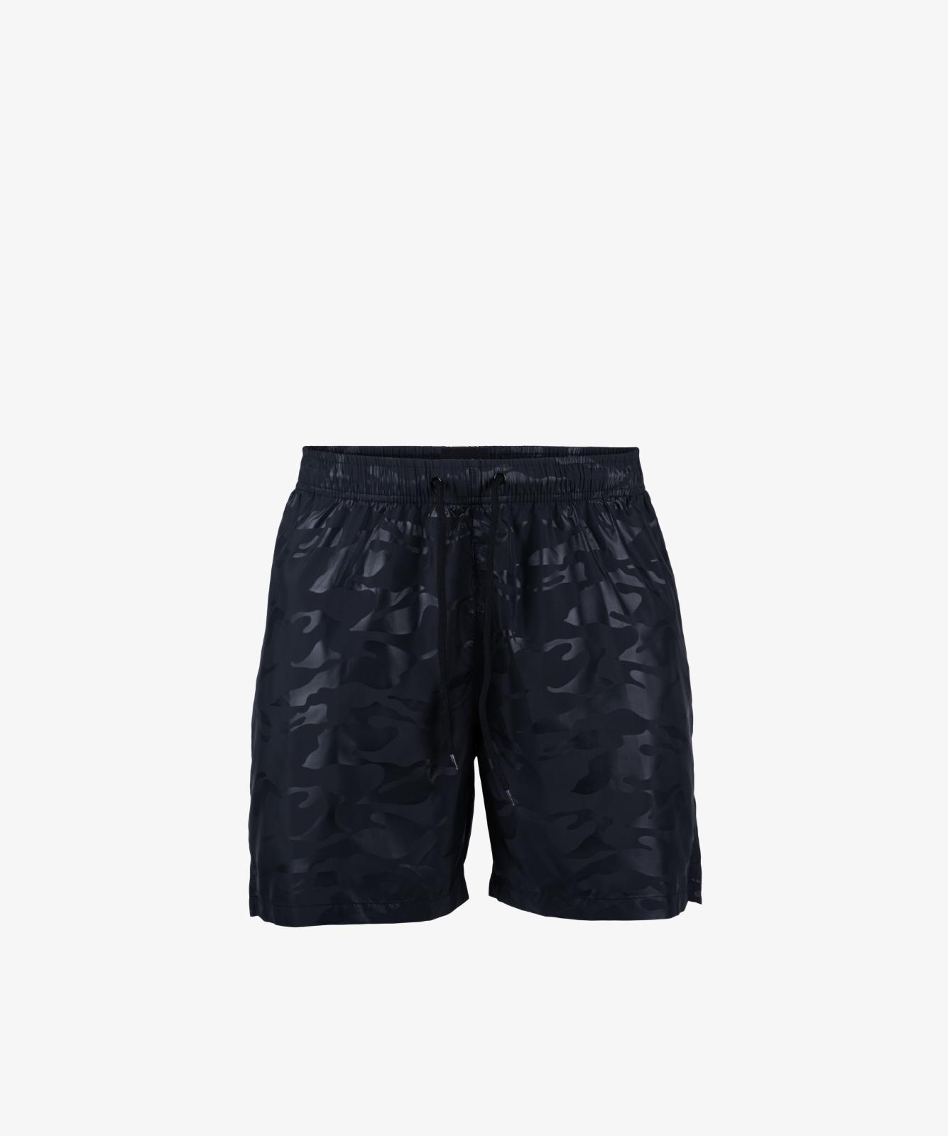 Пляжные шорты мужские Atlantic, 1 шт. в уп., полиэстер, черные, KMB-194