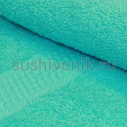 Полотенце махровое голубое 50х90