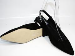 Босоножки на низком каблуке Kluchini 5183 Black.
