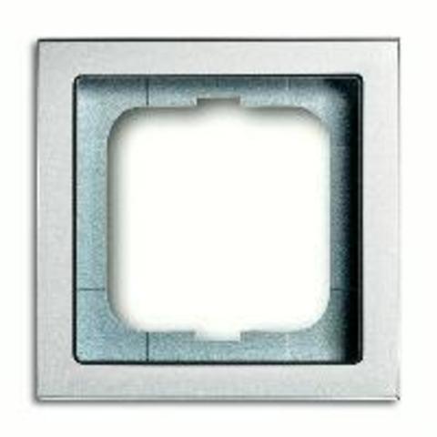 Рамка на 1 пост. Цвет Серебристо-алюминиевый. ABB(АББ). Future Linear(Фьючер Линеар). 1754-0-4529