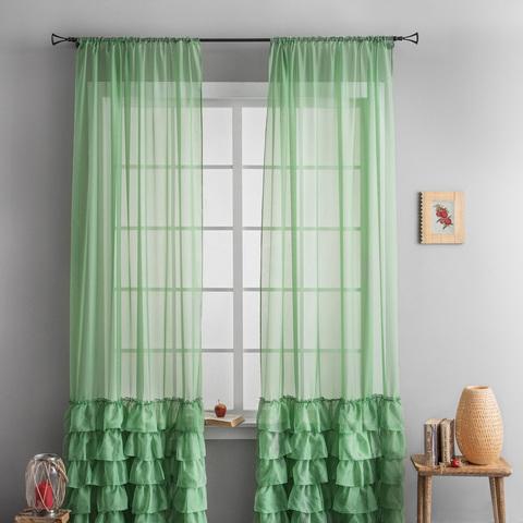 Комплект штор Фрезия зеленый