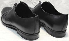 Осенние мужские туфли из натуральной кожи Ikoc 2249-1 Black Leather.