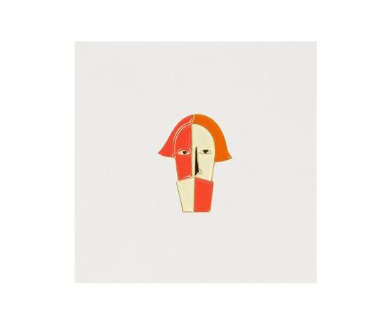 Значок металлический Авангард: Голова крестьянина