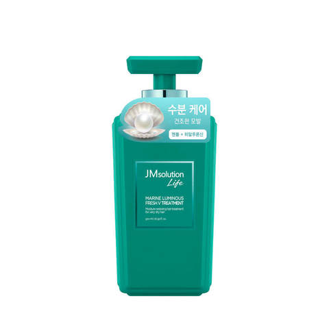 JMsolution Маска для волос против перхоти с экстарктом жемчуга LIFE MARINE LUMINOUS FRESH V TREATMENT, 500 мл