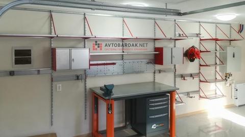 Проект № 30: стена в гараже 6,45 м (полки и рабочая зона)