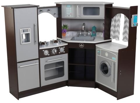 KidKraft Эспрессо угловая - большая интерактивная кухня 53365_KE