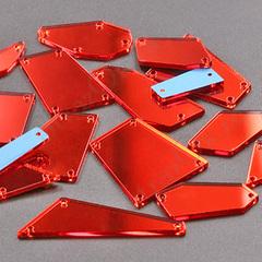 Украсить бальное платье пришивными зеркалами красными