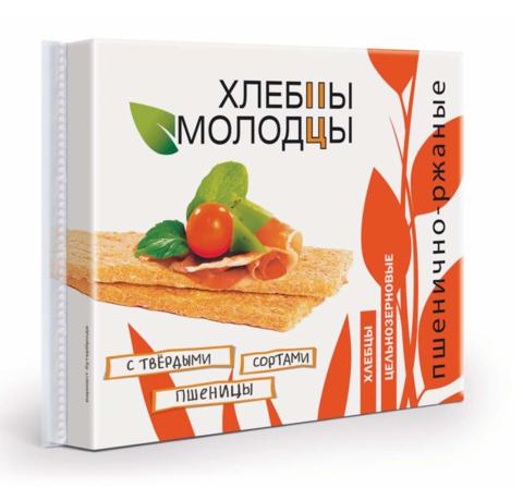 """Хлебцы """"Молодцы"""" пшенично-ржаные 100г"""