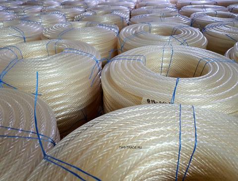 Шланг Ø 20мм армированный прозрачный силиконовый толщина стенки 4 мм (50 м в бухте)