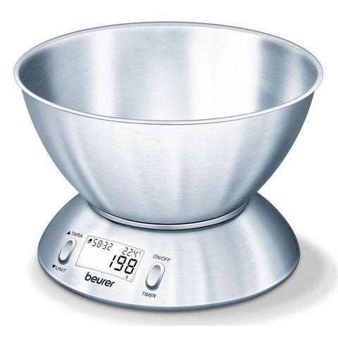 Весы кухонные электронные Beurer B-KS54SIL макс.вес:5кг серебристый
