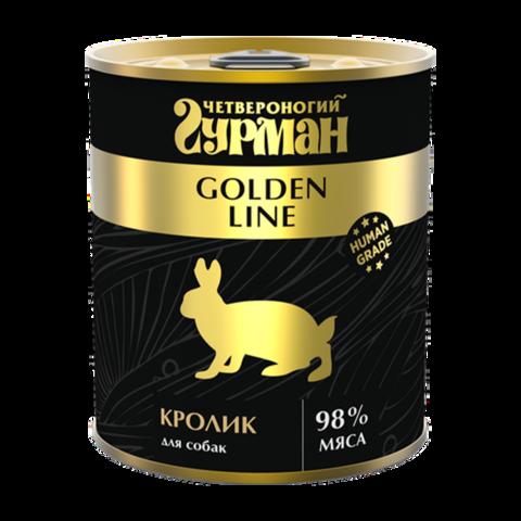 Четвероногий Гурман Golden Консервы для собак с натуральным кроликом в желе (Банка)