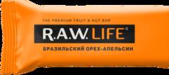 Батончик натуральный R.A.W. LIFE Бразильский орех - апельсин
