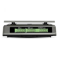 Весы торговые настольные Mertech M-ER 328AC-32.5 TOUCH-M, 32кг, 5гр, 325х230, с поверкой, без стойки